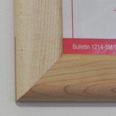 grain and miter close-up