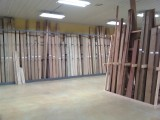 Some of the hardwood racks.