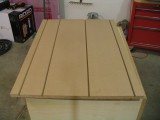 The bottom two MDF sheets have 4 dados in them, each is 5/32