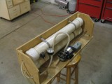 My vacuum bagging system consists of a little pump, and A PVC resivoir.