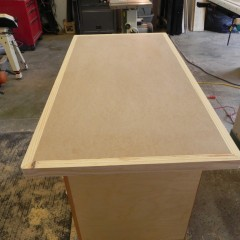 The core ready for the Formica.