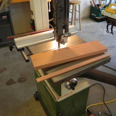Ripping to width on the bandsaw
