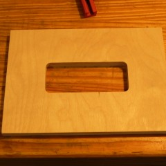 Mortise template top
